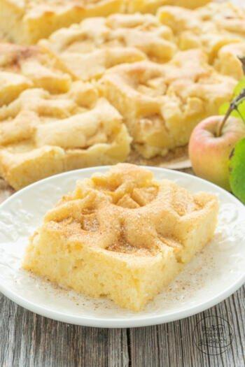 Apfelkuchen Blechkuchen Rührteig