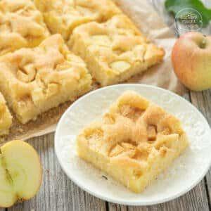 Schneller versunkener Apfelkuchen Blech