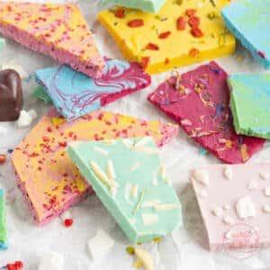 Bunte Schokolade natürlich färben