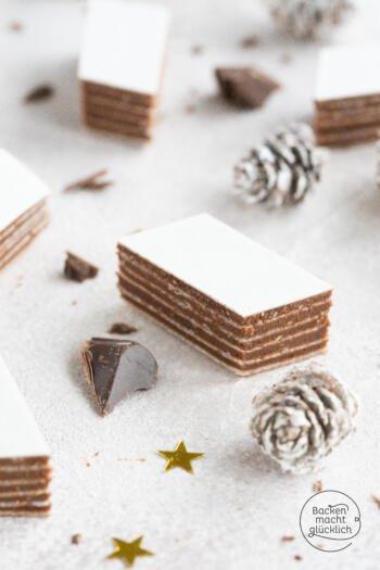 Oblaten mit Schokolade Plätzchen