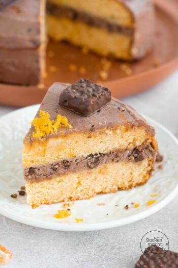 Orangentorte mit Schokolade