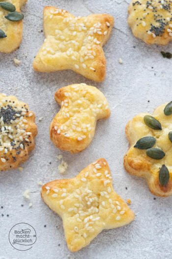 Herzhafte Kekse mit Käse