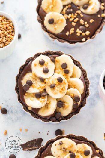 Schoko Bananen Tartelettes