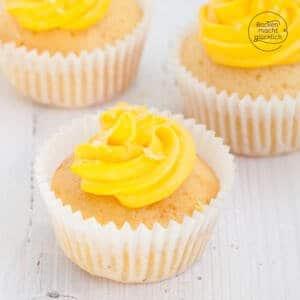 Zitronen Cupcakes mit Frischkäse