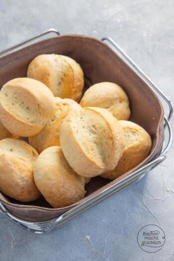 Klassische Brötchen wie vom Bäcker