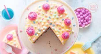 Buttercreme Torte rosa