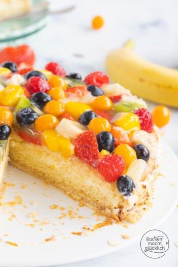 Obst-Sahne-Torte