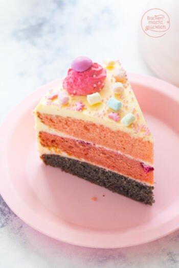 einfache rosa Torte