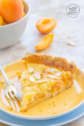 Aprikosentarte frische aprikosen