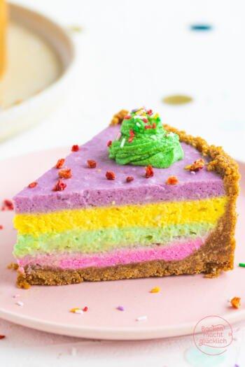 Farbiger Quarkkuchen
