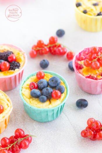 kalorienarme zuckerfreie Quarkmuffins