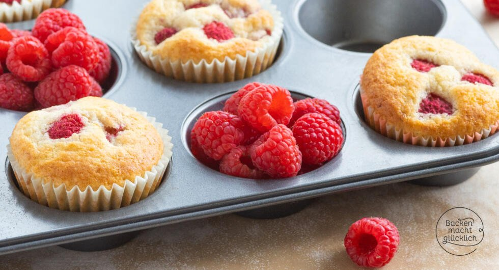 Muffins mit Himbeeren