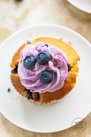Heidelbeer Cupcake Rezept