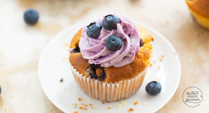 Heidelbeer-Cupcake Rezept