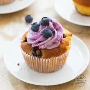 saftige Blaubeercupcakes