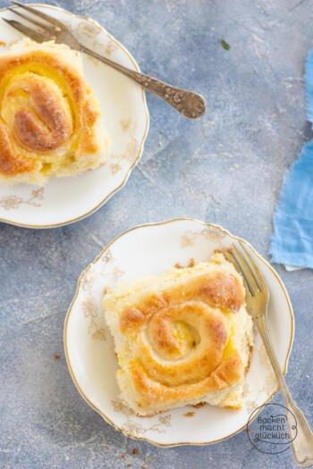 Schneckenkuchen mit Pudding