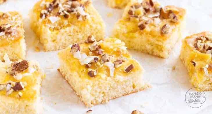 einfacher Ananans-Blechkuchen