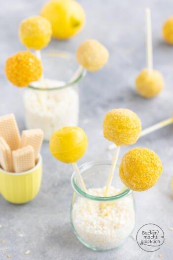 Cake Pops Zitrone ohne Backen