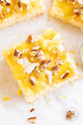 Kuchen mit Ananas Kokos