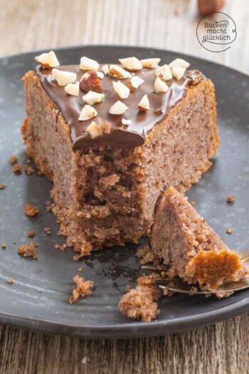 veganer Schoko Nuss Kuchen