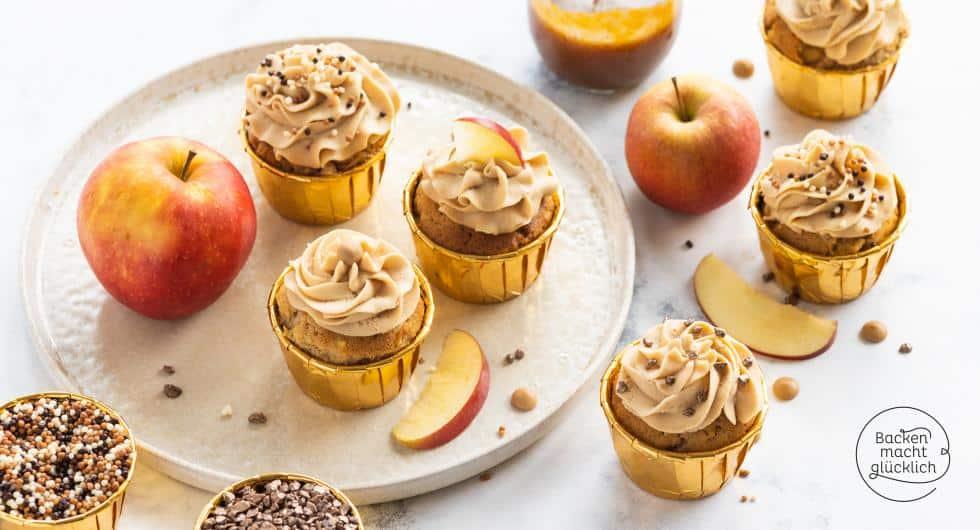 Apfel-Karamell-Cupcake Rezept