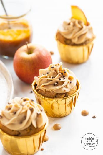 Apfelcupcakes mit Karamell