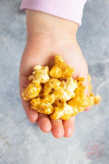 Gesalzenes Karamell Popcorn