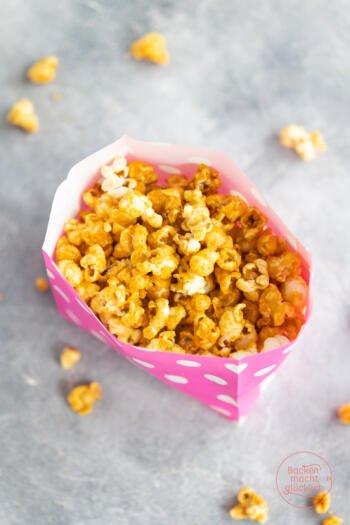 Karamell-Popcorn im Topf